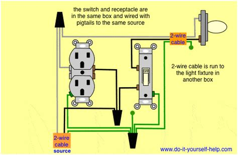 how to wire a light switch and outlet in same box wiring