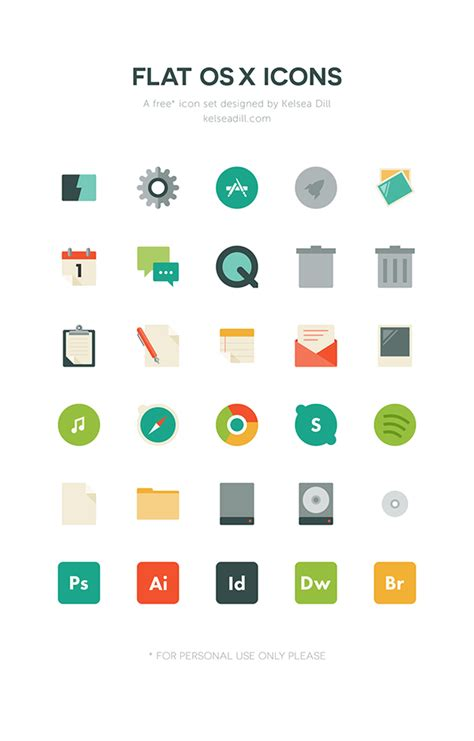 home design osx free flat os x icons free download on behance