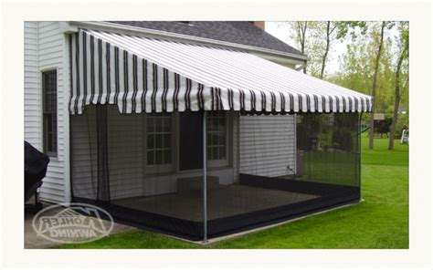 awning with screen retractable awning with screen schwep
