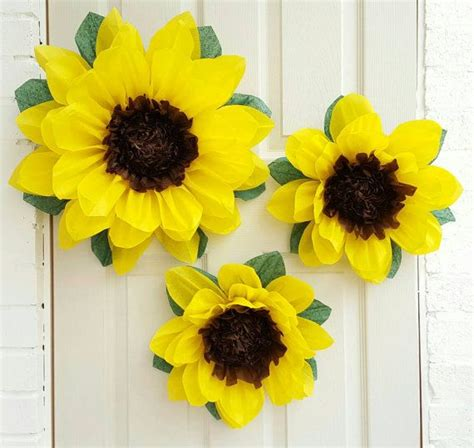 How To Make Sunflowers Out Of Tissue Paper - best 25 paper sunflowers ideas on