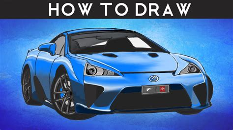 lexus lfa drawing how to draw a lexus lfa by pf drawingpat