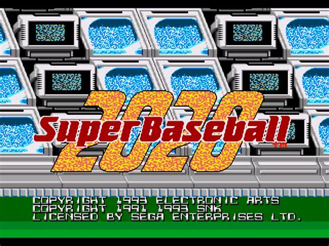 Baseball 2020 Sega Genesis by Baseball 2020 Gamefabrique