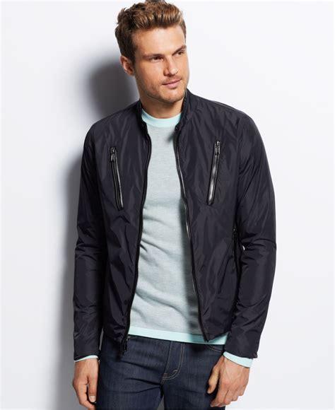s moto jacket lyst michael kors moto jacket in black for