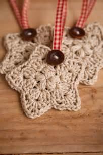 crochet christmas crochet christmas star set of 3