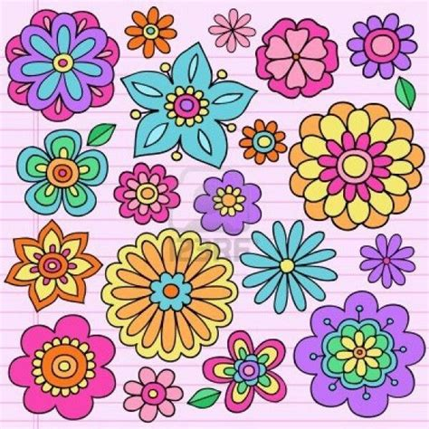 imagenes de flores dibujadas flores dibujadas hecho a mano pinterest