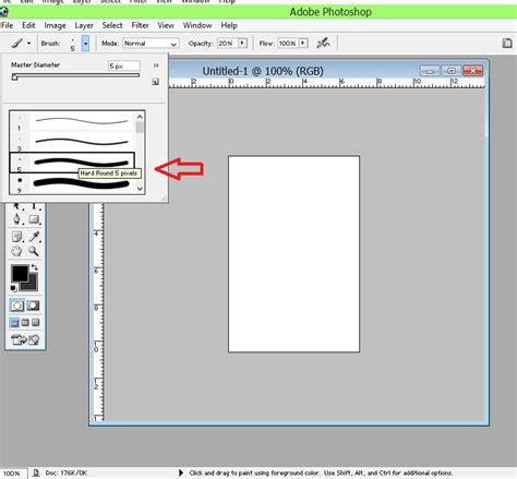 membuat garis bingkai di photoshop cara mudah membuat garis dengan photoshop deqwan1 blog