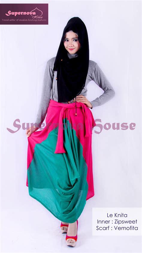 Model Baju Muslim Gamis Terbaru Dan Modern Lk Pikura Kemeja le knita tosca turkis mag baju muslim gamis modern