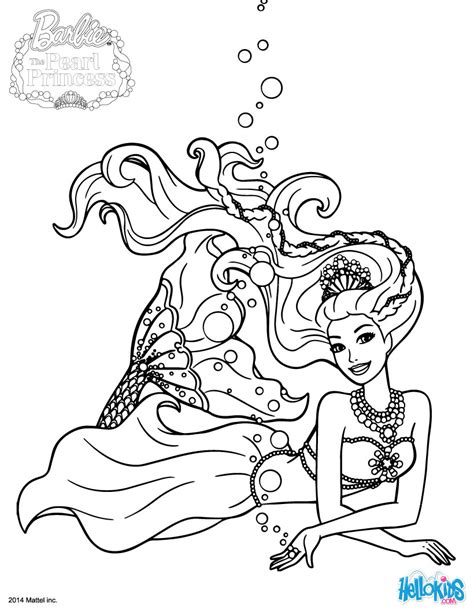Barbie Plays Lumina Coloring Pages Hellokids Com Pearl Princess Coloring Pages