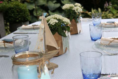 Tischdeko Hochzeit Maritim by Maritime Tischdekoration Und Eine Upcycling Idee