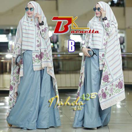 Khimar Nahda nahda 42b b baju muslim gamis modern