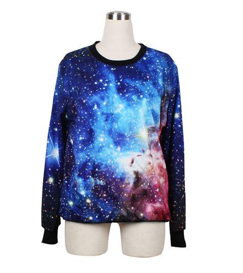 unisex galaxy universe pattern t shirt galaxy sweater jumper cosmic light sweatshirt t shirt long