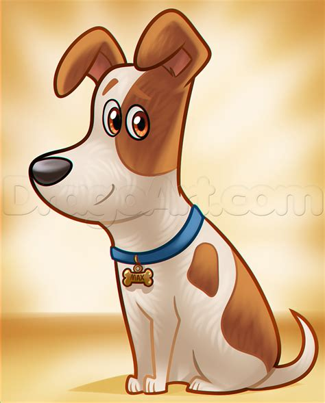 secret of pets how to draw max from the secret of pets step by step pop culture free