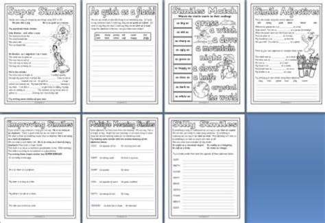 printable english worksheets ks2 free ks2 literacy resource simile worksheet printables