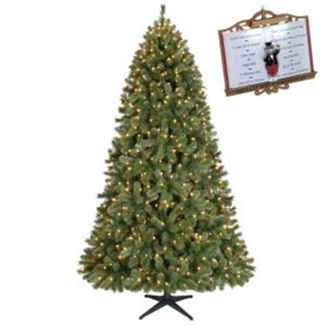 15 ft pre lit led wesley pine artificial christmas tree 7 5 ft pre lit wesley pine artificial tree with clear lights pppa avi depot much
