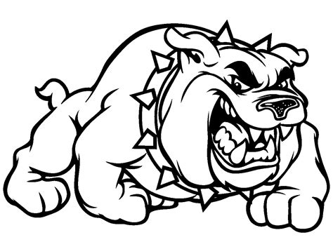 free coloring pages of georgia bulldog mascot