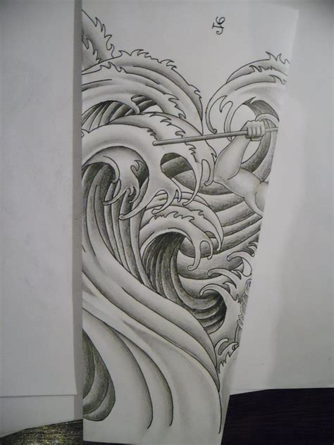 tattoo designs deviantart the gallery for gt japanese wave black and white