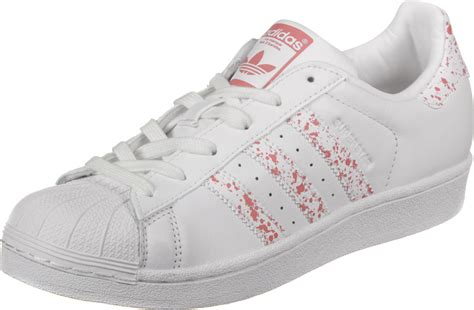 adidas sneakers adidas superstar w shoes white pink