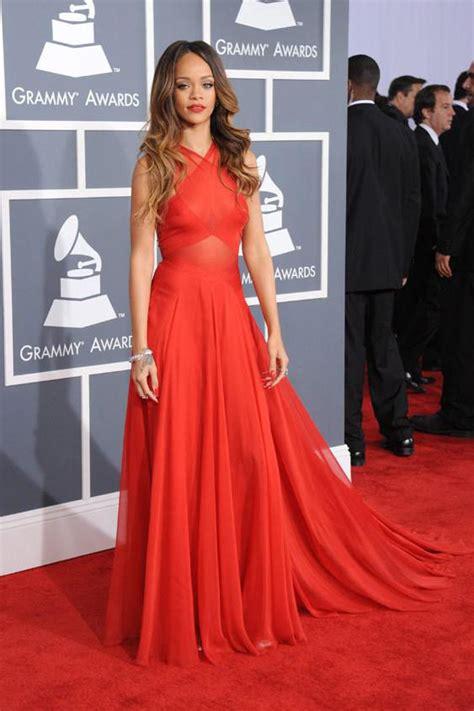 Grammy Awards Rihanna by Rihanna Grammys Carpet Criss Cross A Line
