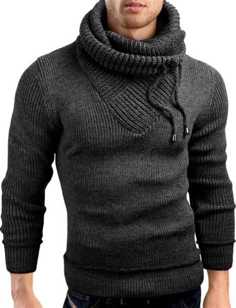 knit hoodie mens shirts