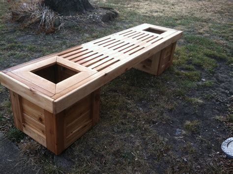 cedar planter bench ana white planter bench diy projects