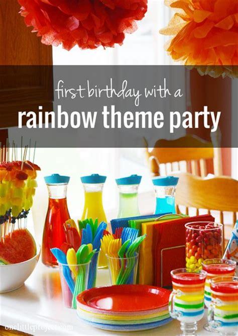 colour themes party rainbow first birthday party photos