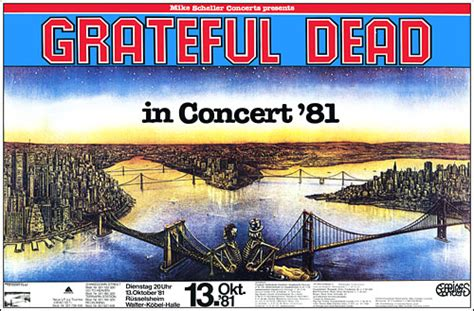 grateful dead germany  concert poster