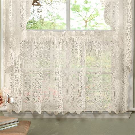 old world style curtains luxurious old world style lace kitchen curtains tiers and