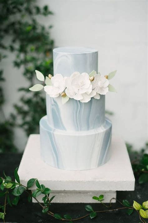 picture   slate grey marble wedding cake  white