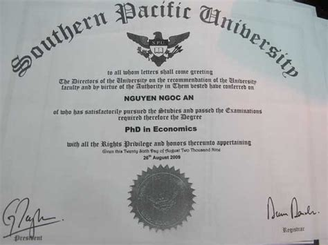 Mba And Phd In Economics by Southern Pacific Spu Realeyezation
