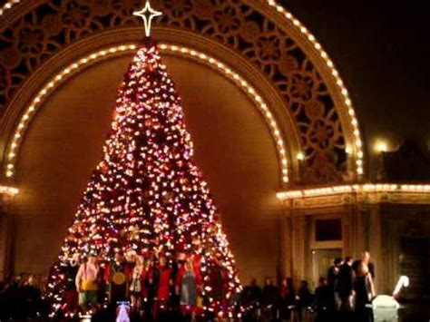 balboa park tree lighting 2017 christmas tree lighting for december nights balboa park