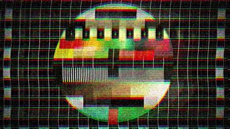 test pattern sound effect static old tv video stock footage