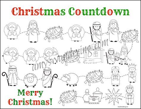 nativity and santa christmas countdown printables amy s