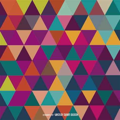 colorful wallpaper triangles triangle mosaic colorful background free vector
