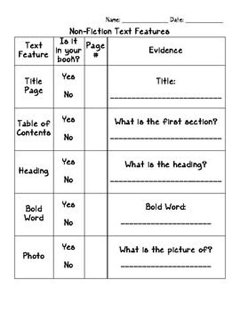 Text Features Worksheet 2nd Grade by 251 Best Non Fiction Images On Guided Reading