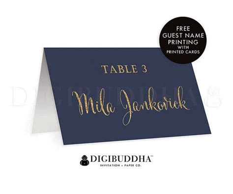 navy blue and gold wedding placecards calligraphy font 25 best ideas about printable wedding place cards on