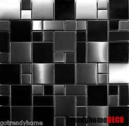 kitchen backsplash stainless steel tiles sle unique black stainless steel pattern mosaic tile
