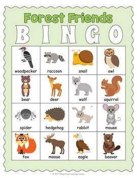 printable rainforest animal cards printable forest animals bingo game bingo games gaming