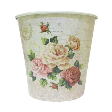Vas Bunga Bunga Pot Kecil jual qhomemart pot kaleng kecil motif bunga harga