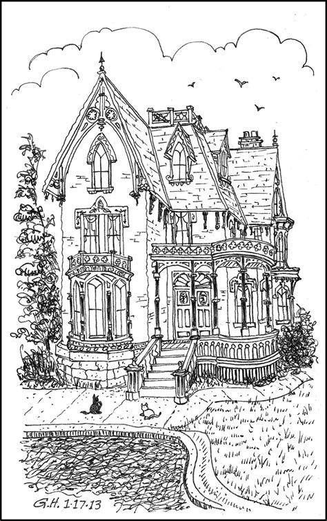 coloring pages for adults victorian icolor quot architecture quot victorian loose line 1177x1895