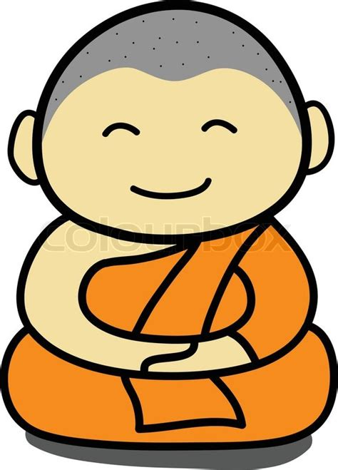 Free Home Plans Online by Buddhist Monk Cartoon Vector Colourbox