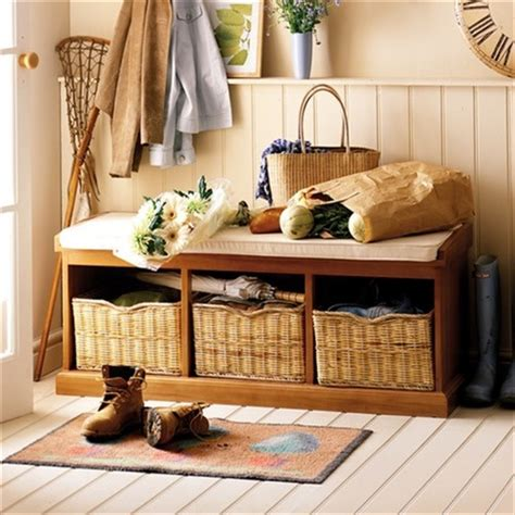 tetbury hallway bench tetbury hall bench with 3 baskets e507 with free delivery the cotswold company