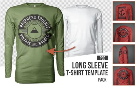 10 Must Have Mockup Templates For T Shirt And Apparel Design Sleeve Shirt Template Psd