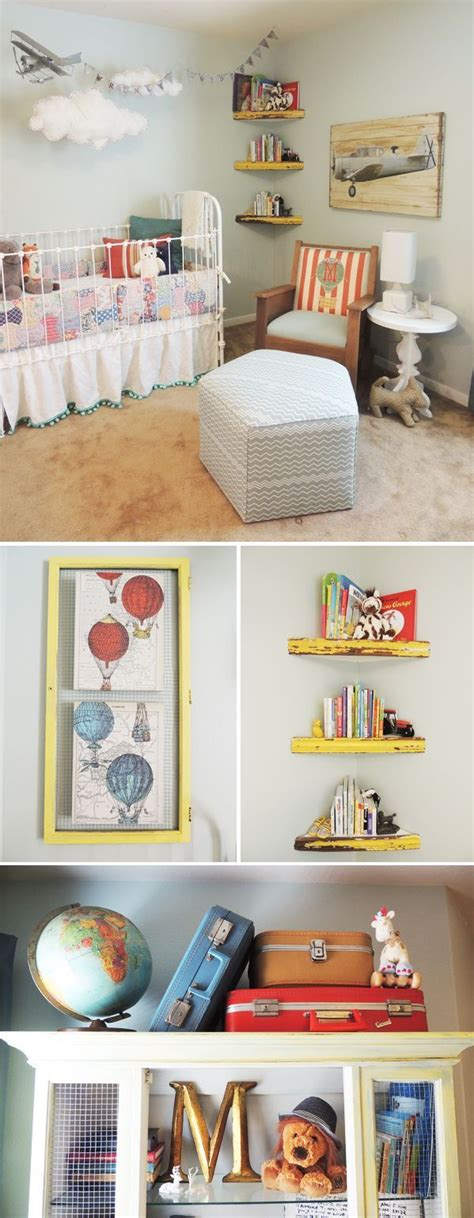 Hanging Bookshelves For Nursery 1000 Images About House Nursery Boy Blue White Grey Gold