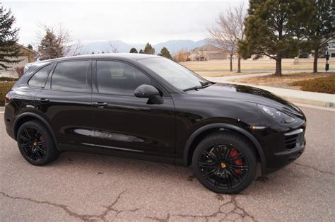 porsche suv blacked out 2013 porsche cayenne turbo black on blacken black pdcc ptv