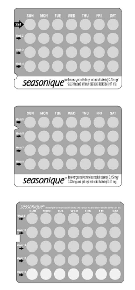 Seasonique (Physicians Total Care, Inc.): FDA Package