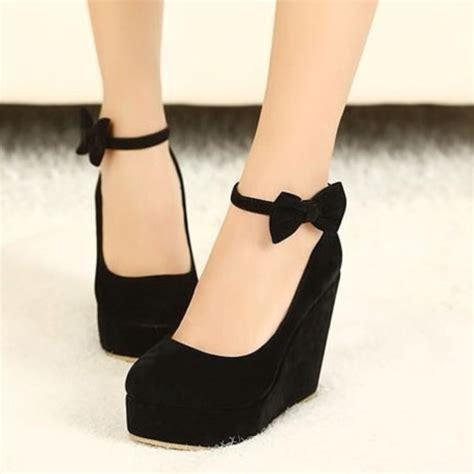 shoes wedges high heels black wedges coat wheretoget
