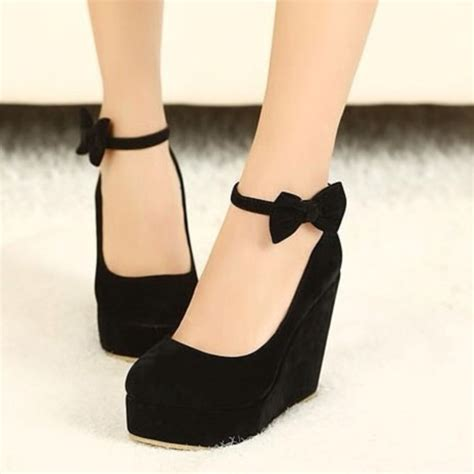 black wedge high heels shoes wedges high heels black wedges coat wheretoget