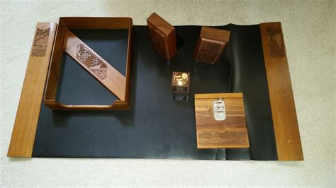 Nautical Desk Accessories Lasercraft Wood Nautical Desk Accessories Set 7 Pc Made In Usa From Black Walnut From The 1970 S
