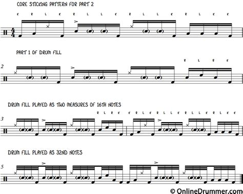 drum tutorial for intermediate drum lessons monster drum fill part 2 onlinedrummer com