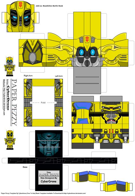 How To Make A Paper Transformer Bumblebee - paper pezzy bumblebee lam by cyberdrone on deviantart